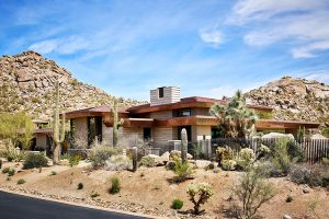 Exterior of desert prairie custom home