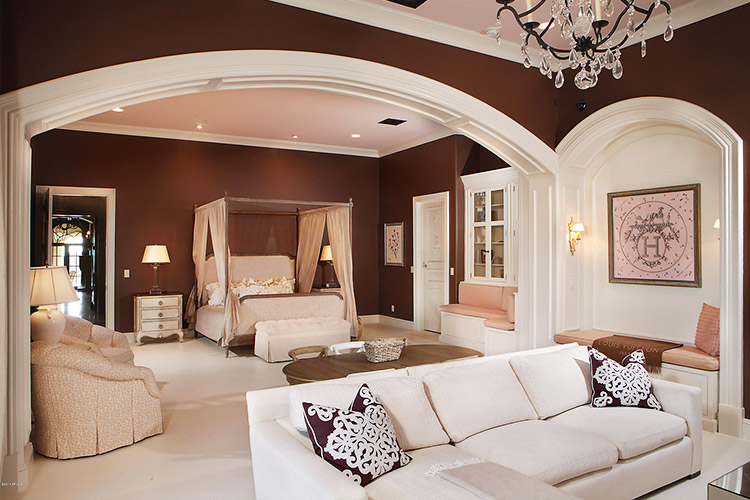 Master suite in custom home