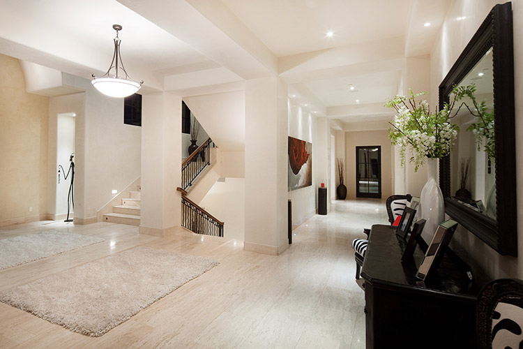 Custom home hallway and staircases