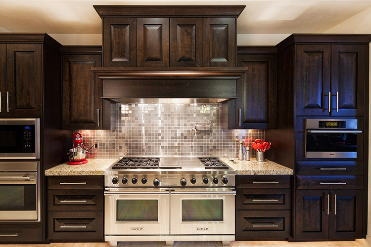 Custom home kitchen with top of the line appliances