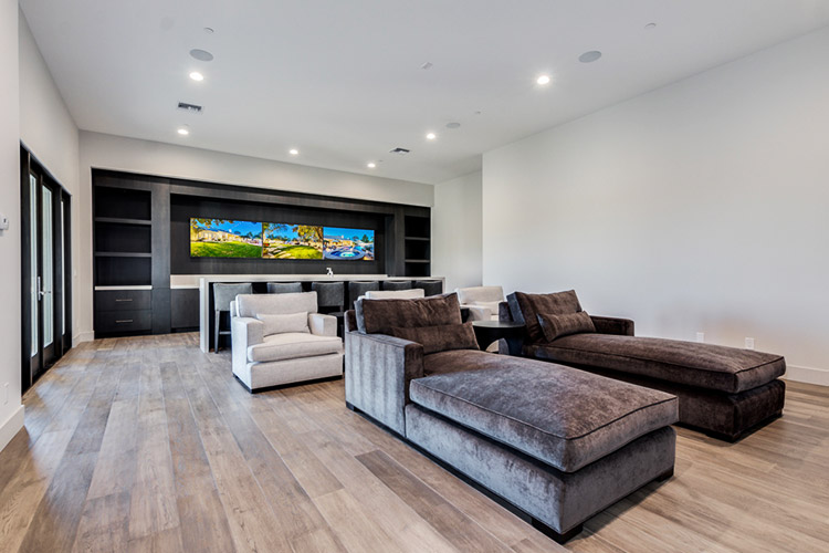 Entertainment room in custom home