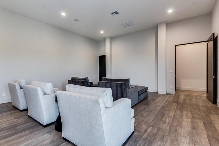 Entertainment room in custom home
