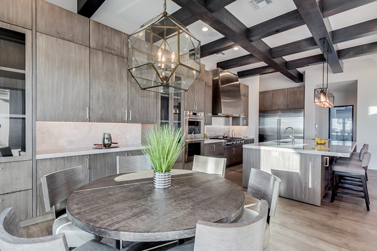 Modern style kitchen in custom home