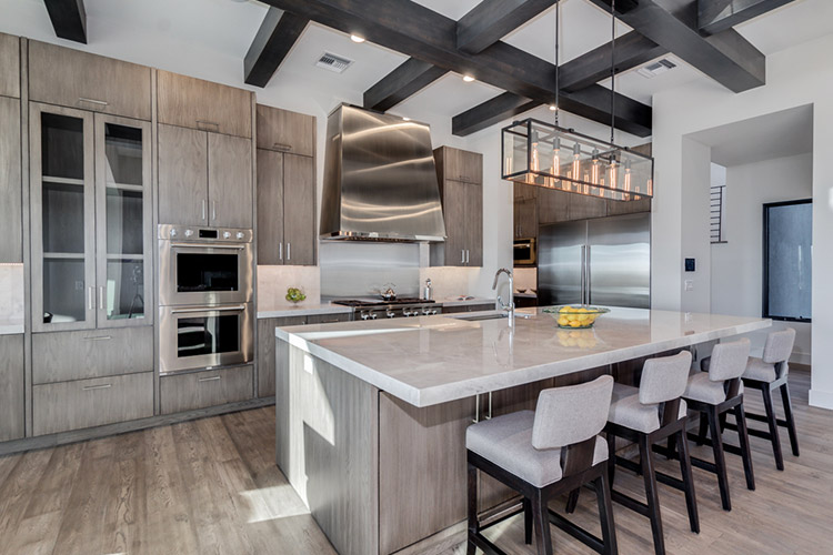 Kitchen in custom home with modern style